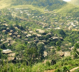 The Mae La Camp in the valley.