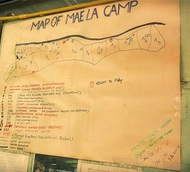 A Map of the Mae La camp.