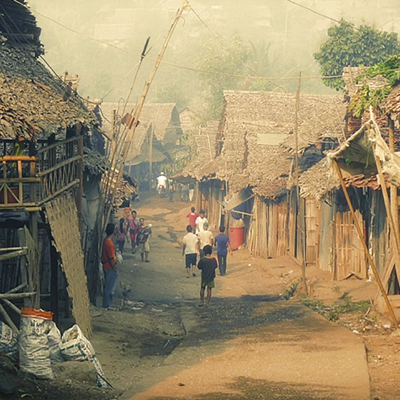 A view of daily life in the camp.