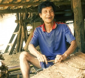 One of the many craftsmen in the camp.