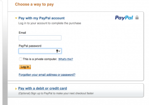 You do not need to pay by PayPal